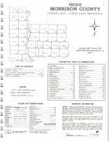 Index Map, Morrison County 1974